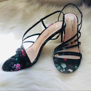 Nanette Lepore Floral Bria Dress Sandals